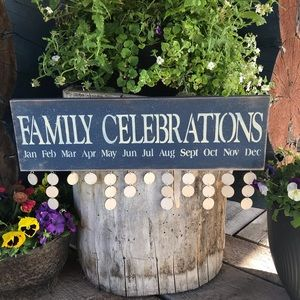 Family Celebration Blue Sign